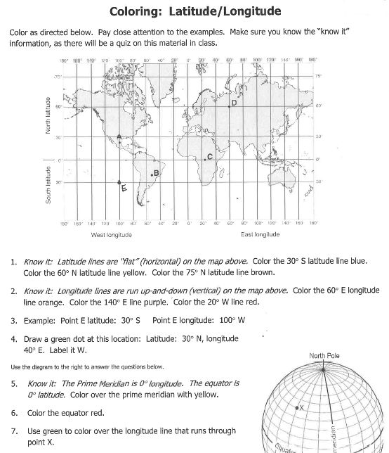 NY Maps79878932185 – Latitude and Longitude Worksheets Pdf
